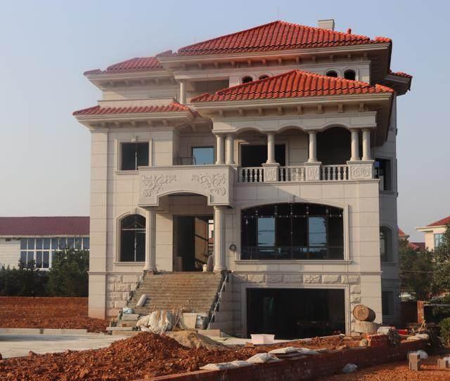 云南省丽江市农村别墅外墙水包水效果图案例